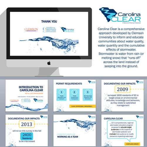 Design a memorable, modern POWERPOINT template for outreach presentations