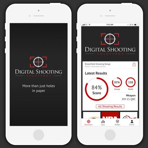 App Design for Technology Company That Uses Digital Cameras to Capture Live Shooting Results in a Gun Range