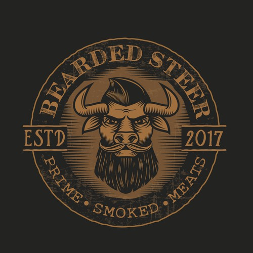From the brief: we would like to see some play on an actual steer/cow in the logo, maybe a hipster anthropomorphic cartoon steer with a beard