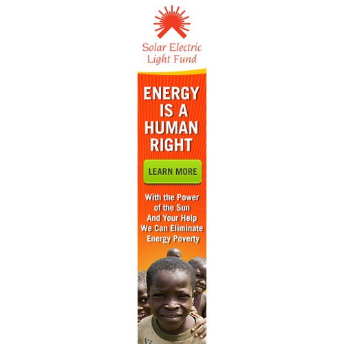 Help Solar Electric Light Fund with a new banner ad