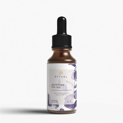 Label for face, hair and body oil