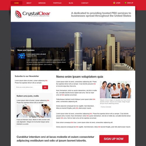 Help CrystalClear IC with a new website design