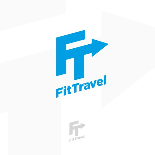Logo for fitness travel company