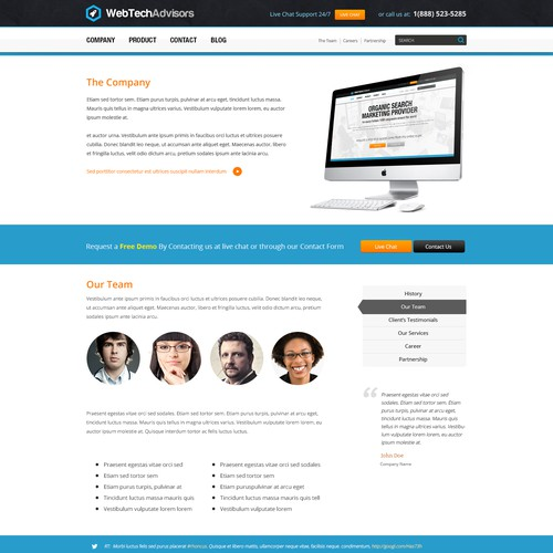 website design for WebTechAdvisors.com