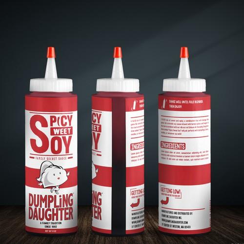 Sauce bottle design