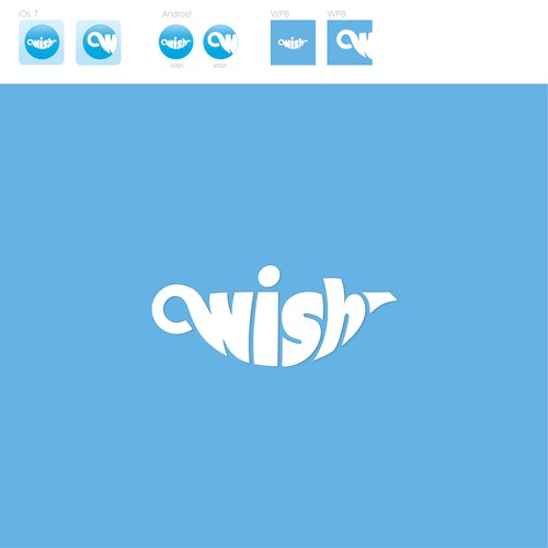 Design the logo of Wish, a mobile app used by millions!