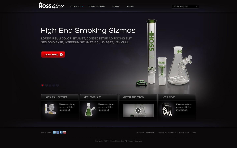 New website design wanted for Hoss Glass