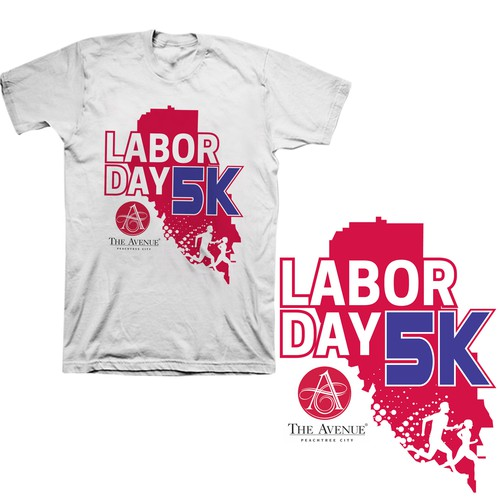 Labor Day 5K - A running event logo