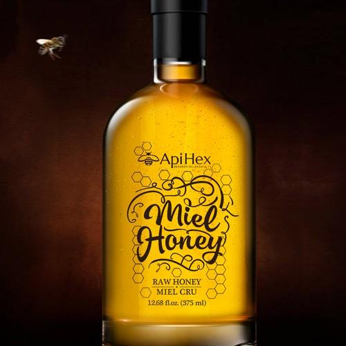 Premium honey, label design