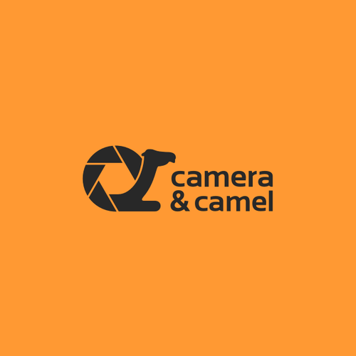 Camera & Camel logo for travel and photography