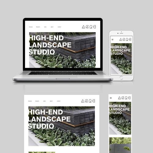 High End Landscape Website Design
