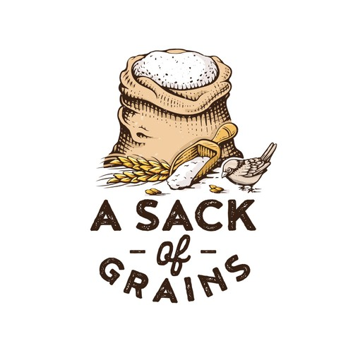 A sack of grains