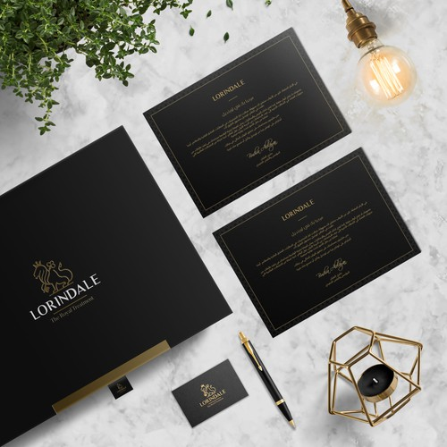 Elegant Welcome Card for Lorindale Concierge