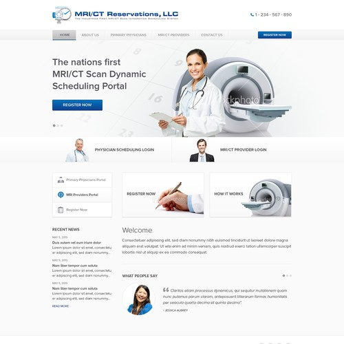 Create the next website design for MRI/CT Reservations, LLC