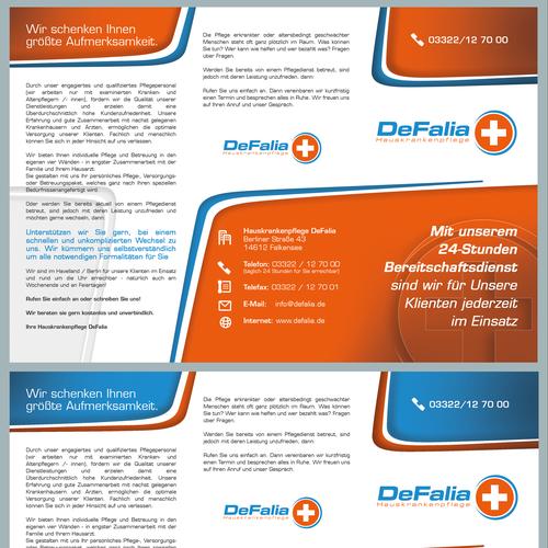 DeFalia neues, ansprechendes und qualitativ HOCHWERTIGES Design für neuen Flyer benötigt!!!