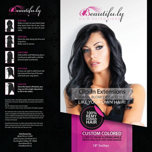 Create a BEAUTIFUL Eye Catching Label for Beautifu.ly Hair Extensions!