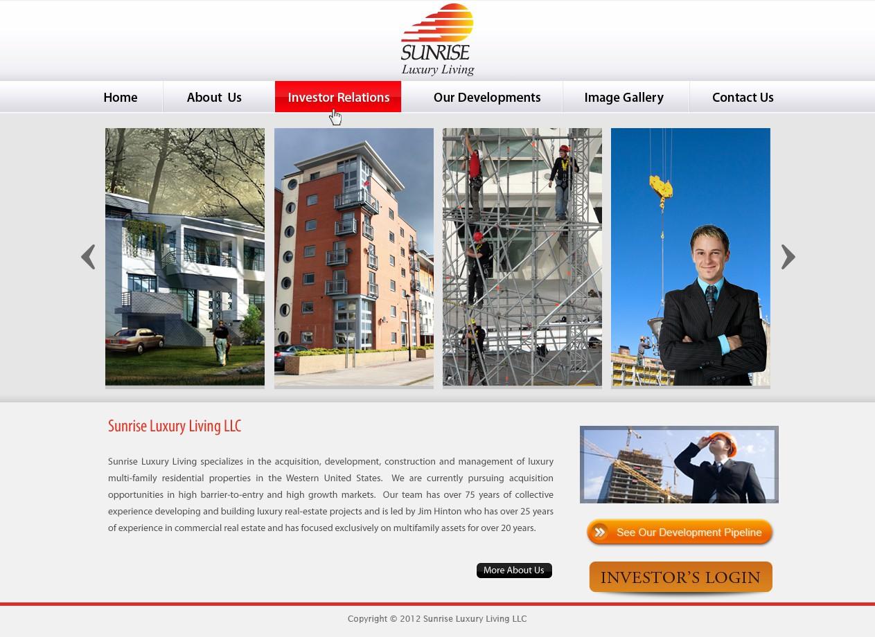 Sunrise Luxury Living LLC needs a new website design