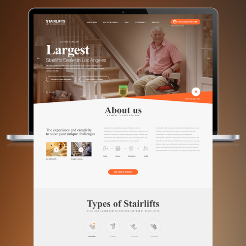 Stairlift Landing Page