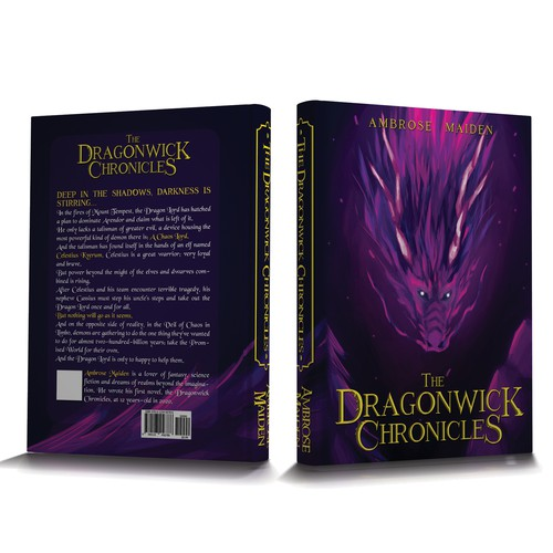 Design a fantasy novel front cover for an exciting young author's first novel!!!!!!