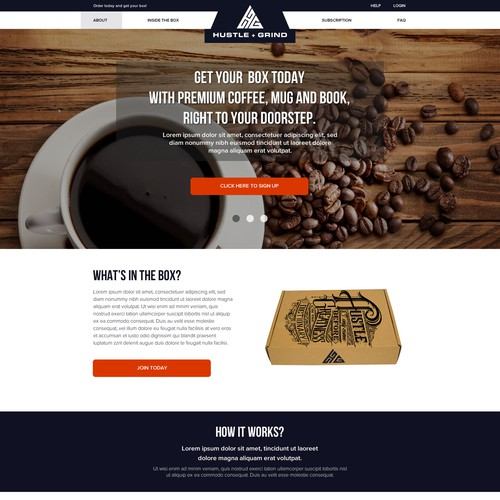 Coffee Subscription Box Website