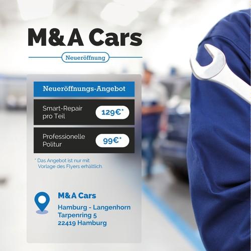 Flyer for a car repair shop