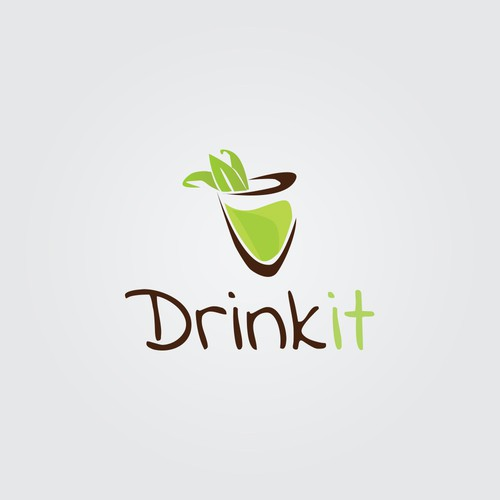 Fresh logo style for drink it!