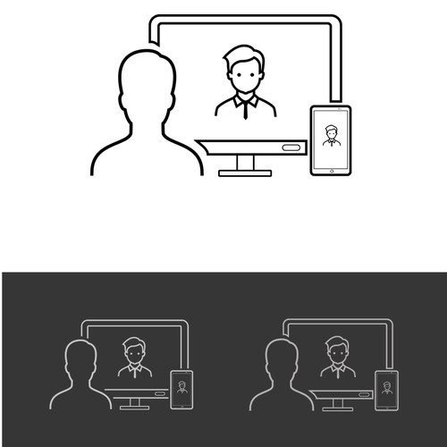 Icon concept for an online learning platform