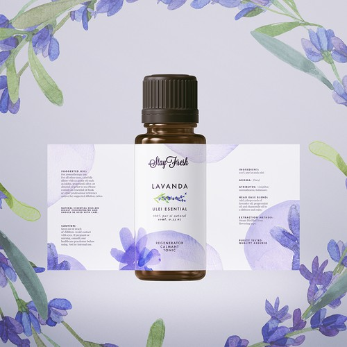 Label for essencial oil
