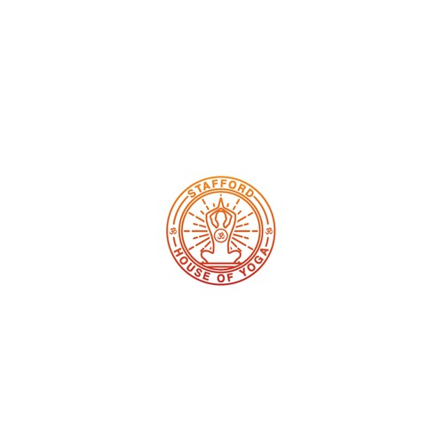 retro logo design for STAFFORD HOUSE OF YOGA