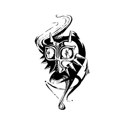 Majoras Mask Tattoo 2