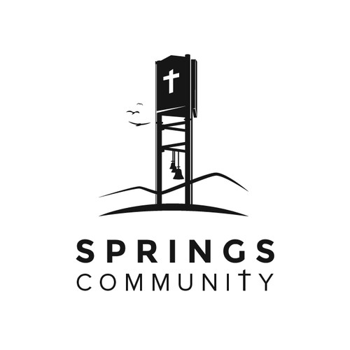 Illustrative logo designs for a community church