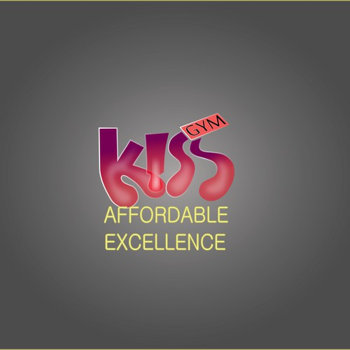Logo for the word 'Kiss'