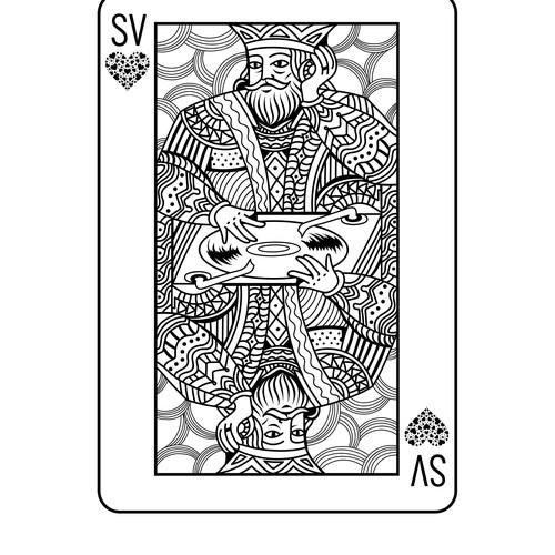 King on turntable