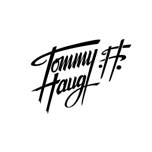 "Handlettering Logo ""Tommy Haug"", a Singer/Songwriter."