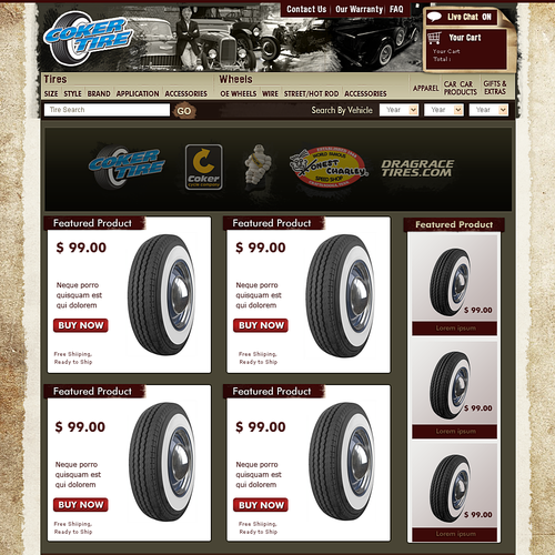 Antique tire store redesign