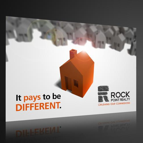 Postcard design for a realty agency