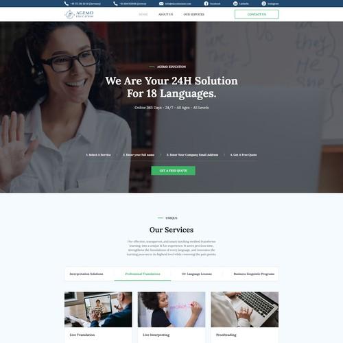 Website Design For A Translation Company