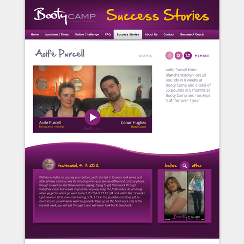Create Beautiful 1 page design for Booty Camp