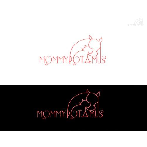 Playful logo needed for unique Mommypotamus Blog
