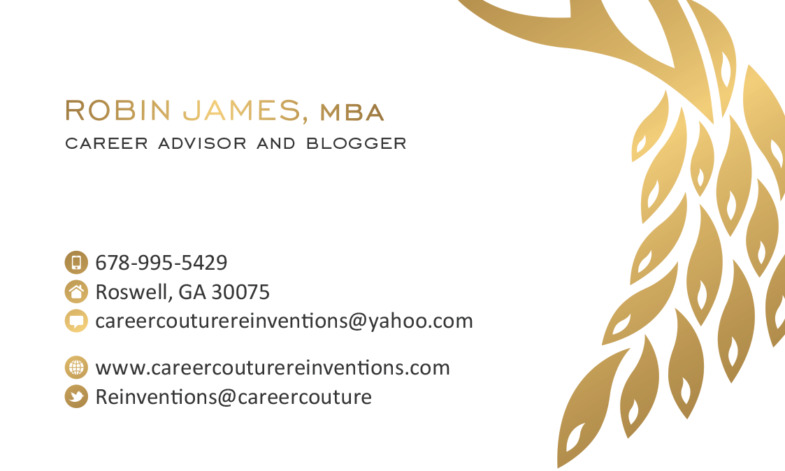 Fashionista career couture business cards