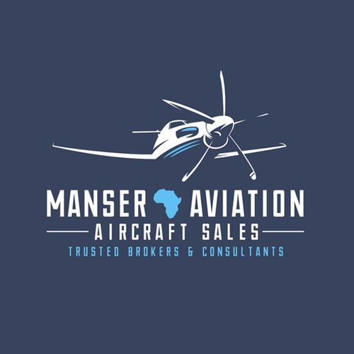 Logo for an aircraft sales business