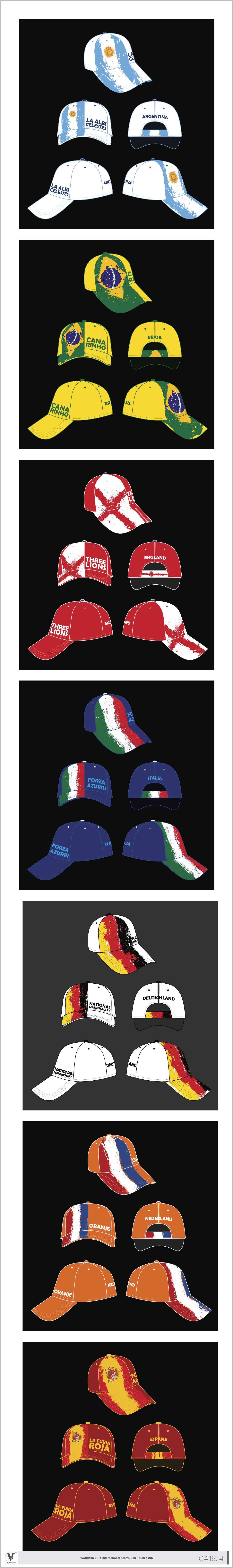 Need creative Football World Cup cap design