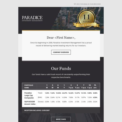 Paradice - 11 years performance history