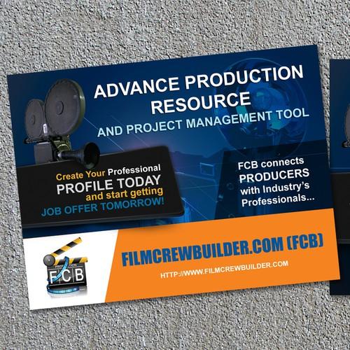 postcard or flyer for Film Crew Builder
