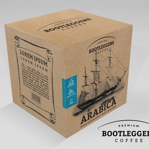 Bold logo concept & box design for a premium coffee brand