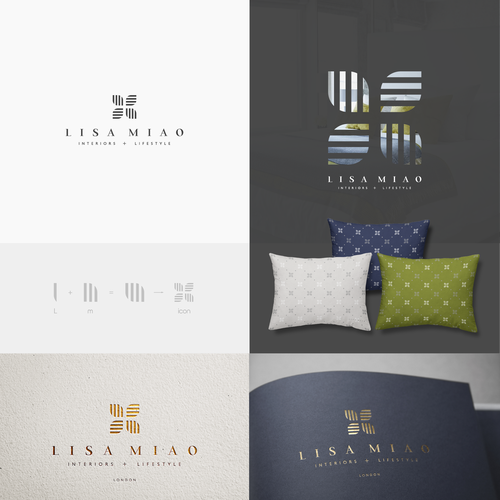 Design a discreetly lush logo for interiors and lifestyle company