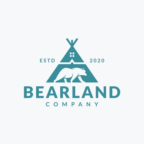 Bear Land Company (logo for family owned real estate company with native influence)
