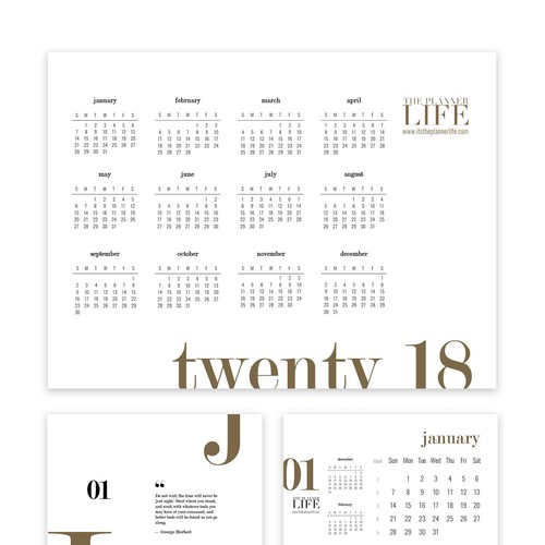 Minimalist Design Calendar