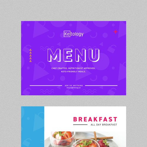 Minimal and Fun Catering Menu Design for Ketology