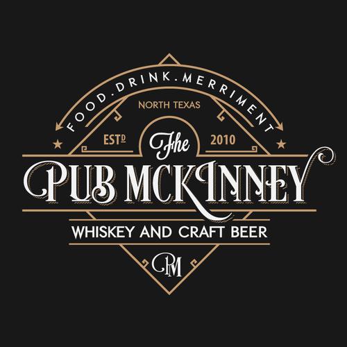 Bold logo for Awesome English pub